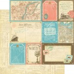 Come Away With Me Collection - Globetrotter 12x12 Paper